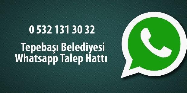 Tepebaşı Belediyesi'nden Whatsapp uygulaması