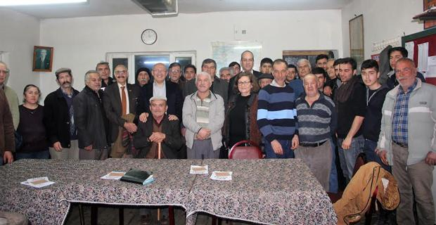 CHP Heyeti Beylikova'nın köylerinde 'Hayır'ı anlattı