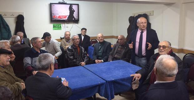 CHP'li Çakırözer kahvehanelerde Hayır'ı anlattı