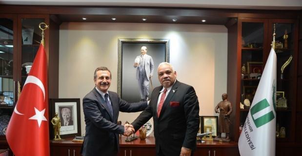 Küba Büyükelçisi Casals, Başkan Ataç'ı ziyaret etti