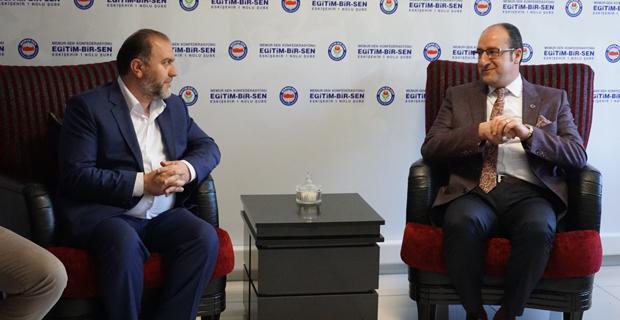 AK Parti teşekkür ziyaretine Memur-Sen'den başladı