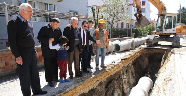 Ertuğrulgazi'ye Büyükşehir'den  Alt yapı yatırımı