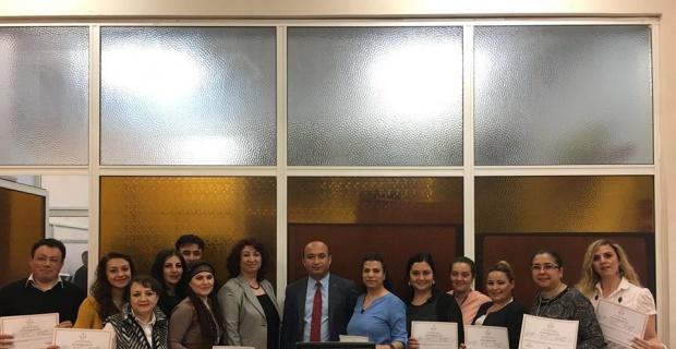 Santralist Eğitim Programı kursunu tamamlayan santral personeline eğitim sertifikaları verildi