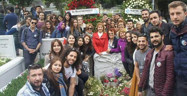 ÇYDD'li gençler Saylan'ı mezarı başında andı