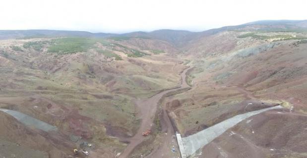 Eskişehir Gündüzler Barajı inşaatı sürüyor