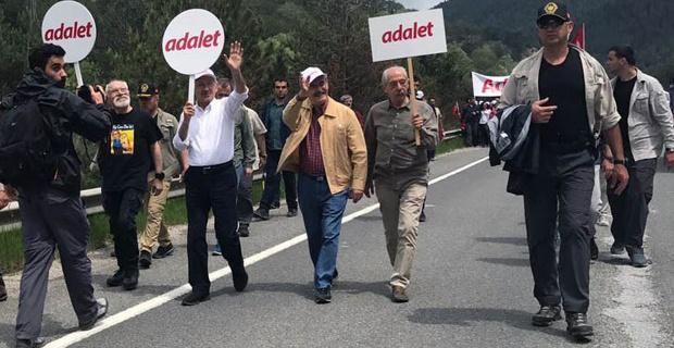 Büyükerşen'den adalet yürüyüşüne destek