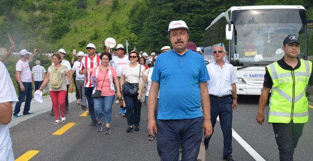 CHP   İl Başkanlığı Adalet Yürüyüşü'nün 12. gününde Kılıçdaroğlu'nu yalnız bırakmadı
