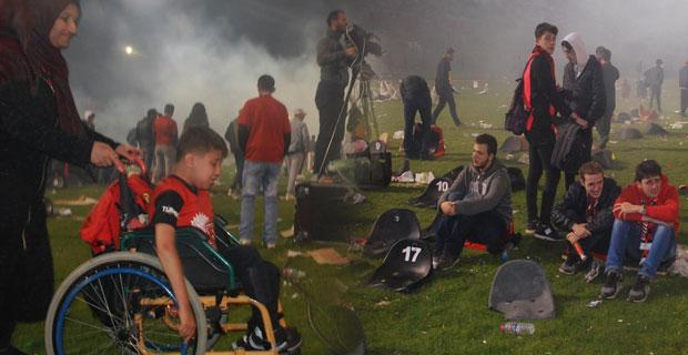 Eskişehirspor taraftarının yıkıldığı o an