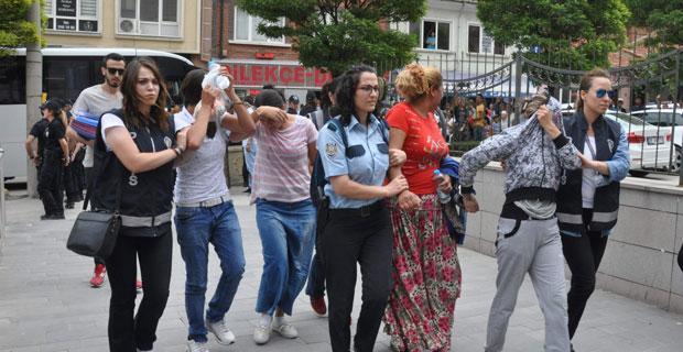 Eskişehir'deki dev operasyon kamerada