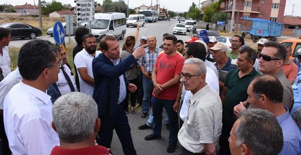 Karacan Çifteler'deki soruna el attı