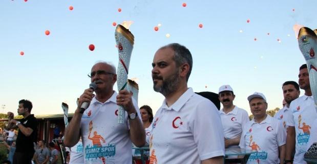 Olimpiyat ateşi Samsun'da yanmaya başladı