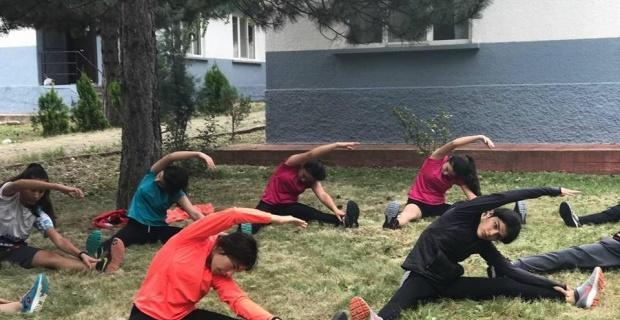 Oryantiring sporcuları İnönü'de yetişiyor