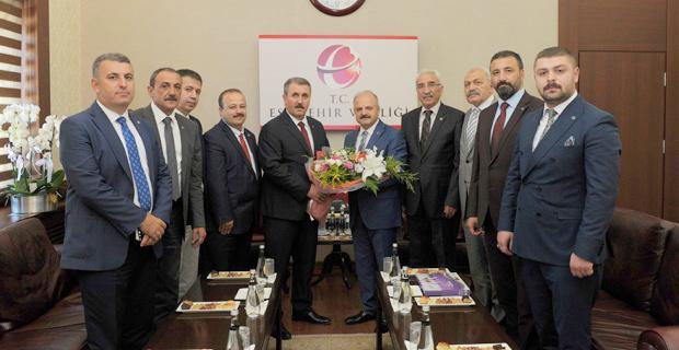 BBP Genel Başkanı Destici, Vali Çakacak'ı ziyaret etti