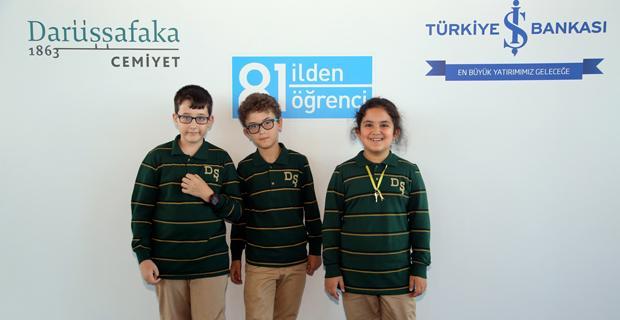 Eskişehir'den başarılı üç öğrenci İş Bankası desteğiyle Darüşşafaka'da