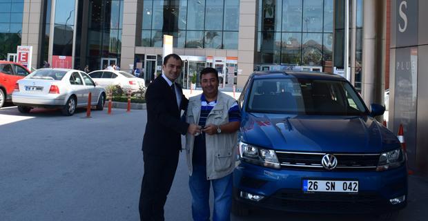 Eskişehirli Şanslı Kişi Volkswagen Tiguan sahibi oldu