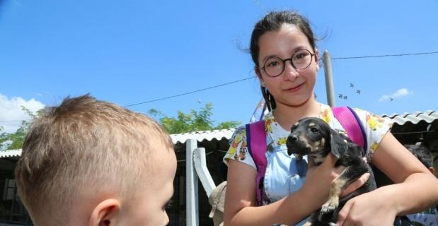 Öğrenciler ve velileri hayvan dostları ile buluştu
