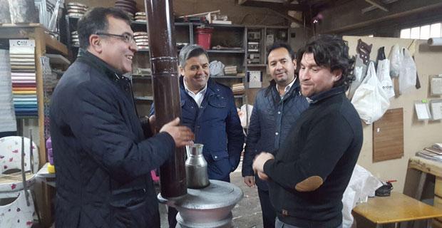 Ayhan Sezer Baksan'ı ziyaret etti