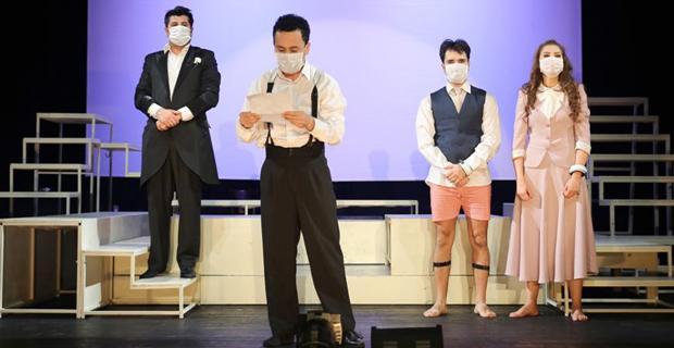 Şehir Tiyatroları'nda termik santral protestosu