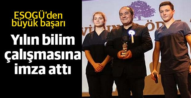 Ayhancı'ya Yılın En İyi Bilim Çalışması Ödülü