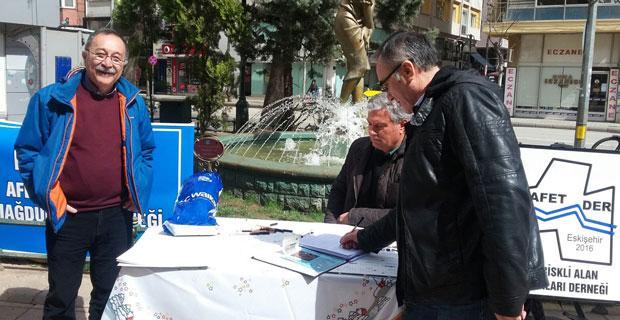 Afet Riskli Alan Mağdurları imza kampanyası başlattı