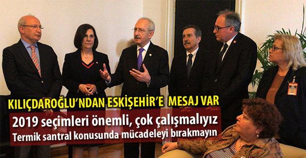 CHP Tepebaşı Örgütünden Kılıçdaroğlu'na ziyaret