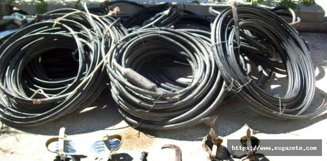 Doğalgaz boru hattı şantiyesinden 210 bin liralık kablo çaldılar