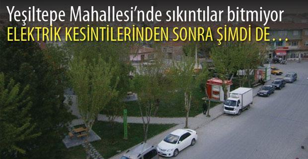 Yeşiltepe Mahallesi'nde sorunlar bitmiyor