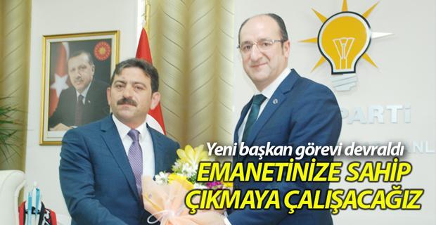 AK Parti'de yeni başkan görevi devraldı