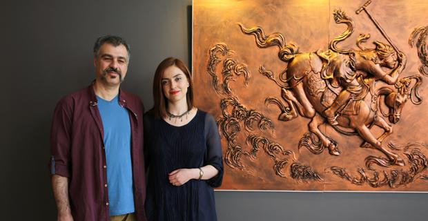 Tebrizli sanatçıdan Heykel ve Rölyef sergisi