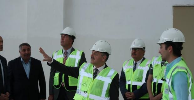 Vali Çakacak 112 Komuta Kontrol Merkezi inşaatını denetledi