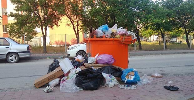 Çöp konteyneri yetersiz kalıyor