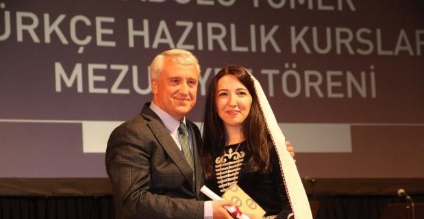 Anadolu Tömer'de mezuniyet heyecanı