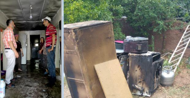 Başkan Güler, yangın mağduru ailenin yarasını saracak
