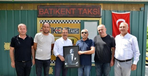 Başkan Ahmet Ataç'tan taksicilere ziyaret