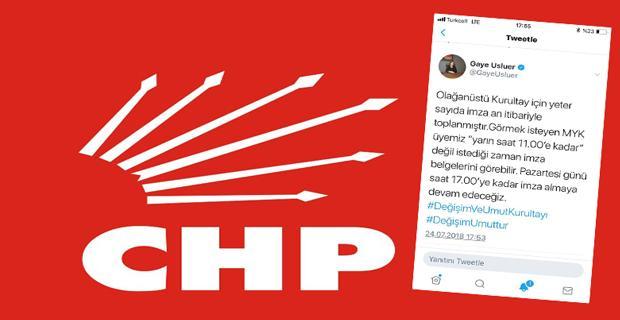CHP'de imza sayısı tamam