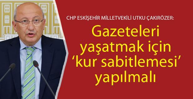 CHP medyanın sorunlarının araştırılmasını istedi