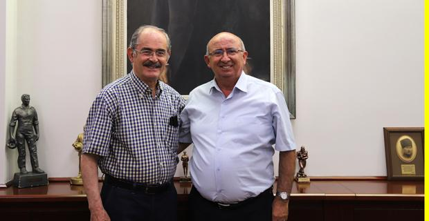 Kıbrıslı MEB, Büyükerşen'i ziyaret etti