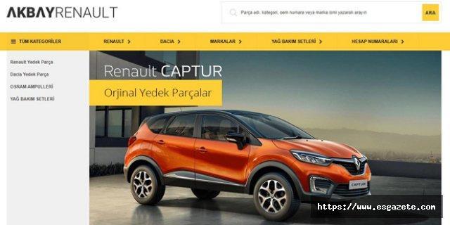 Akbayrenault.com'da Tüm Renault ve Dacia Yedek Parçaları Yer Alıyor