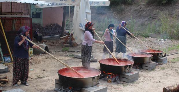Sarıcakaya'da salça telaşı