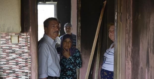 Tepebaşı Belediyesinden evi yanan aileye yardım eli