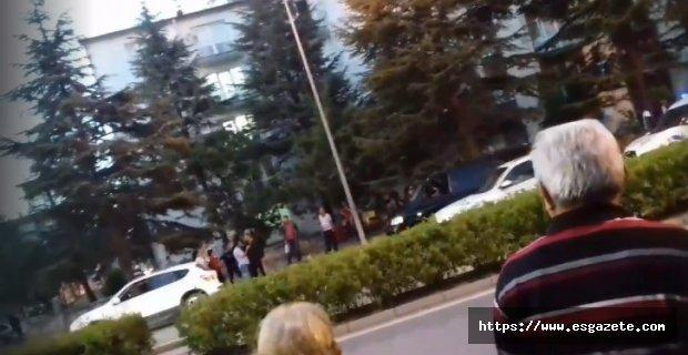 Kadın sürücülerin yol verme kavgası karakolda bitti