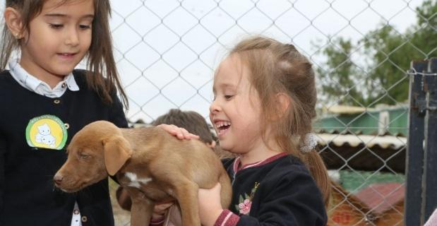 Çocuklardan minik dostlarına sürpriz ziyaret