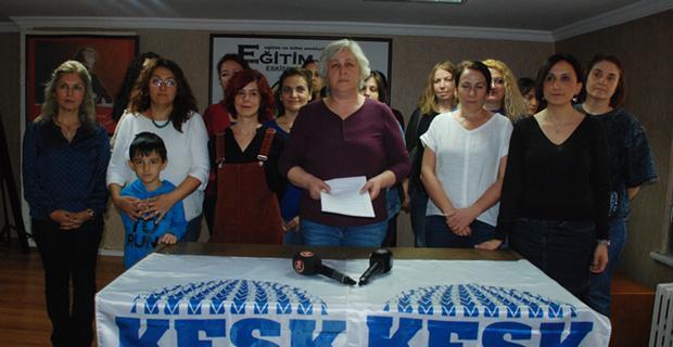 KESK'li kadınlardan Flormar işçilerine destek