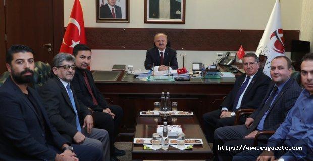Vali Çakacak, TSYD Eskişehir Şubesini Kabul Etti
