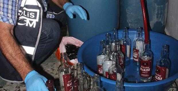 122 litre kaçak içki ele geçirildi