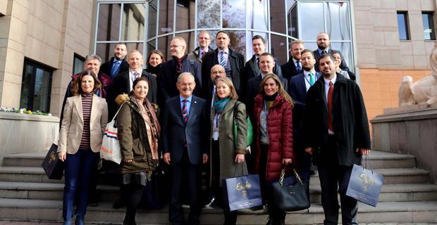 AB Delegasyonu Büyükerşen'i ziyaret etti