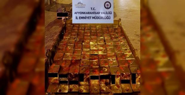 Afyonkarahisar'da 2 bin 900 litre kaçak akaryakıt ele geçirildi