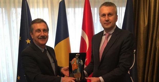 Ataç'tan Romanya Büyükelçisi Şopanda'ya ziyaret