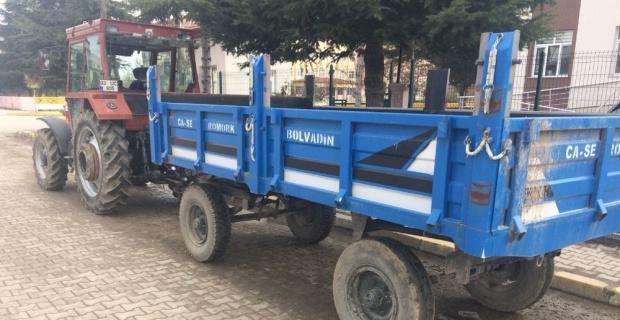 Çiftlikten traktör römorku çalan şahıs yakalandı