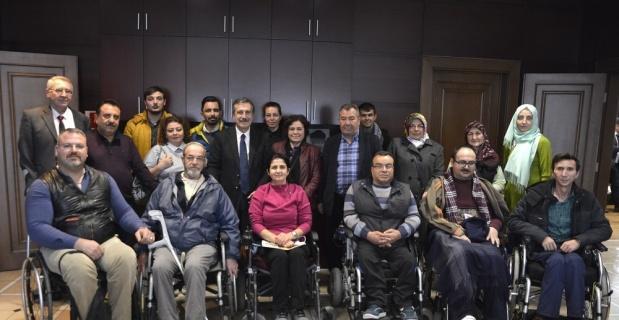 Engelli bireylerden Tepebaşı'na tebrik